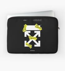 Off White Line Kreuz Laptoptasche
