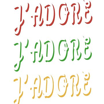 J'adore french love retro design by jhussar
