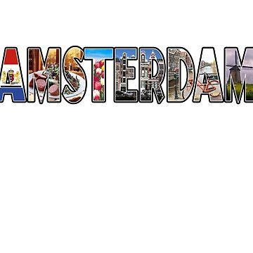 Amsterdam Netherlands Souvenir Dutch Vacation T Shirt Gift by techman516