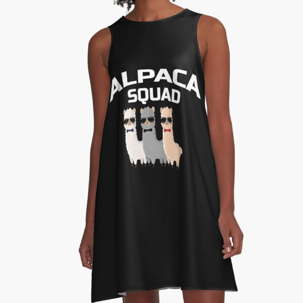 Alpaca Squad LLama Zoo Farm Animal Gift A-Line Dress