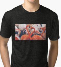 Flamencos corazon fotografia Tri-blend T-Shirt