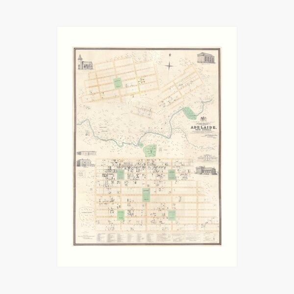 Adelaide: Kingston Map, 1842 Art Print