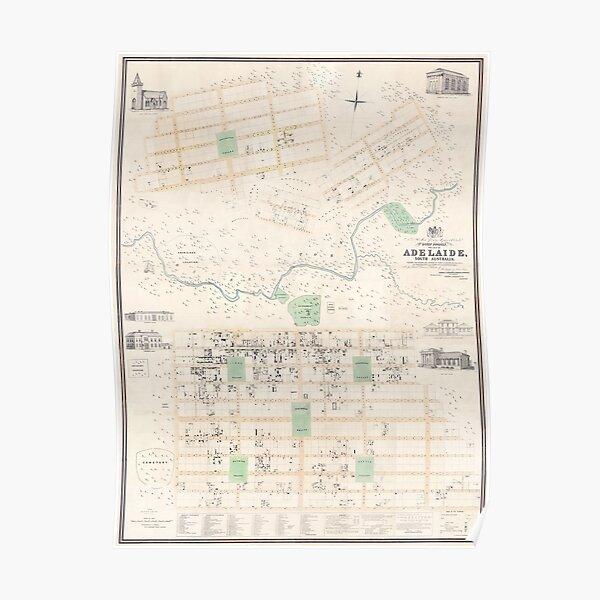 Adelaide: Kingston Map, 1842 Poster
