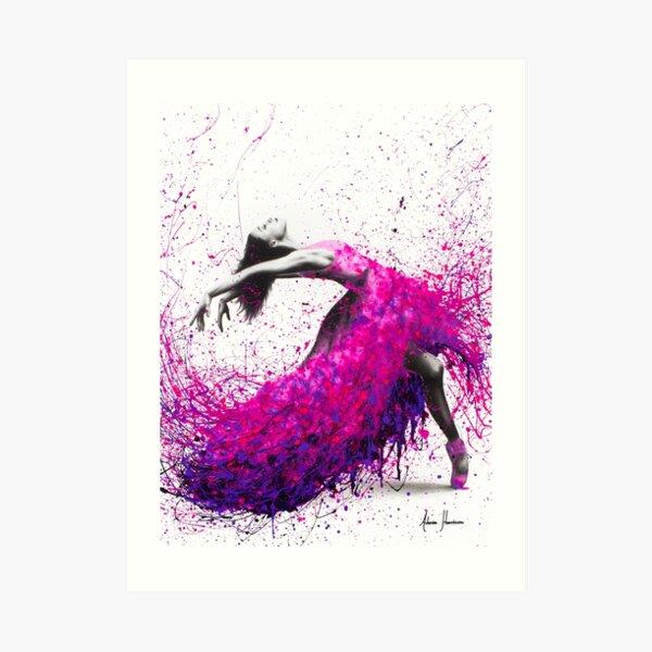 Hot Magenta Dance Art Print