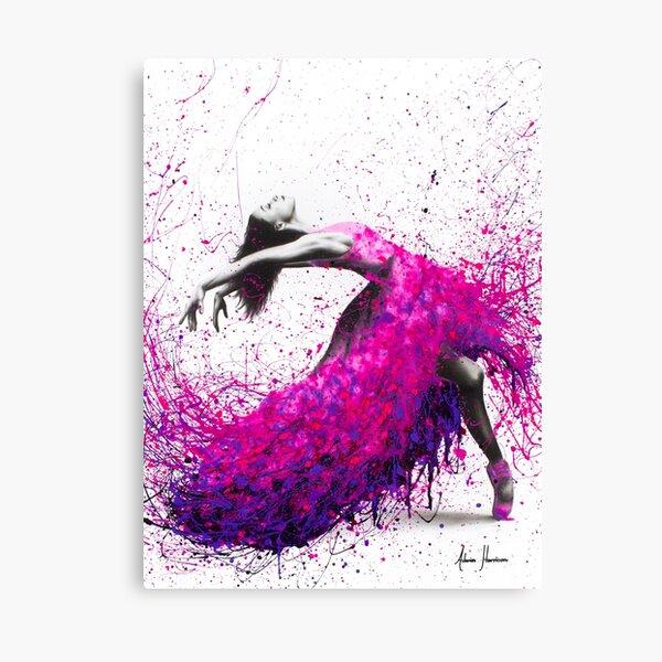 Hot Magenta Dance Canvas Print