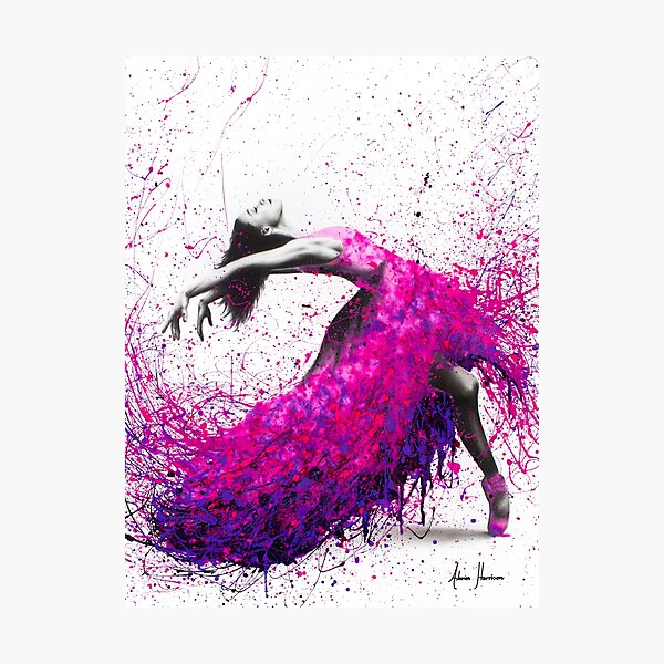 Hot Magenta Dance Photographic Print