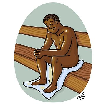 Man in Sauna by Nude-is-Life