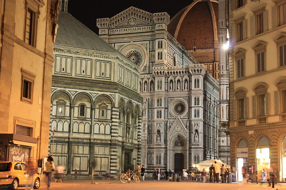 Florence cathedral at night by MrSandblast