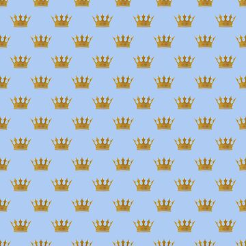 Mini Louis Blue Gold Crown Prince of Cambridge  by podartist