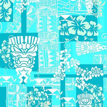 Blue Hawaii with a White Tiki by Kaaawasaki