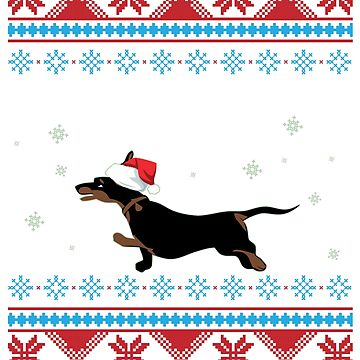 Dachshund Through The Snow T-Shirt Funny Dog Lover's Ugly Sweater Gift: Dachshund Owners | Holiday Gift Giving | Furry Paws |  by larspat