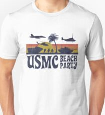 USMC Beach Party Slim Fit T-Shirt