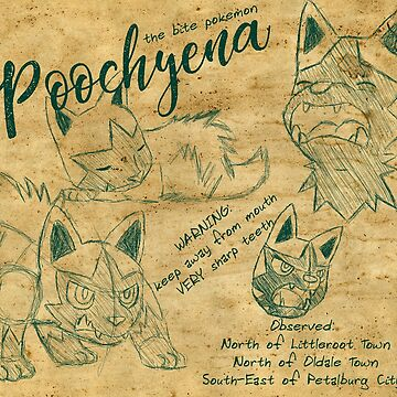 The Poke-thropologist's Notebook - Poochyena by draconemregina
