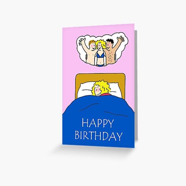 Happy Birthday Fantasy Cartoon Humor for Her Greeting Card
