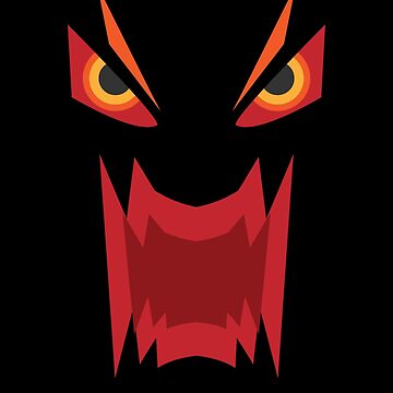 Scary Evil Monster Angry Costume Funny Halloween Red by zot717