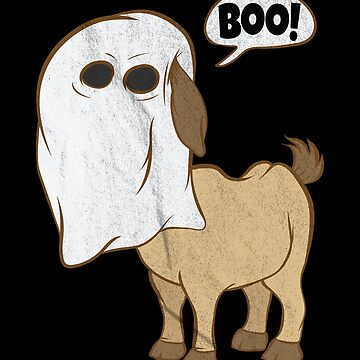 Funny Halloween Goat Ghost Costume Cute Boo Goat by zot717