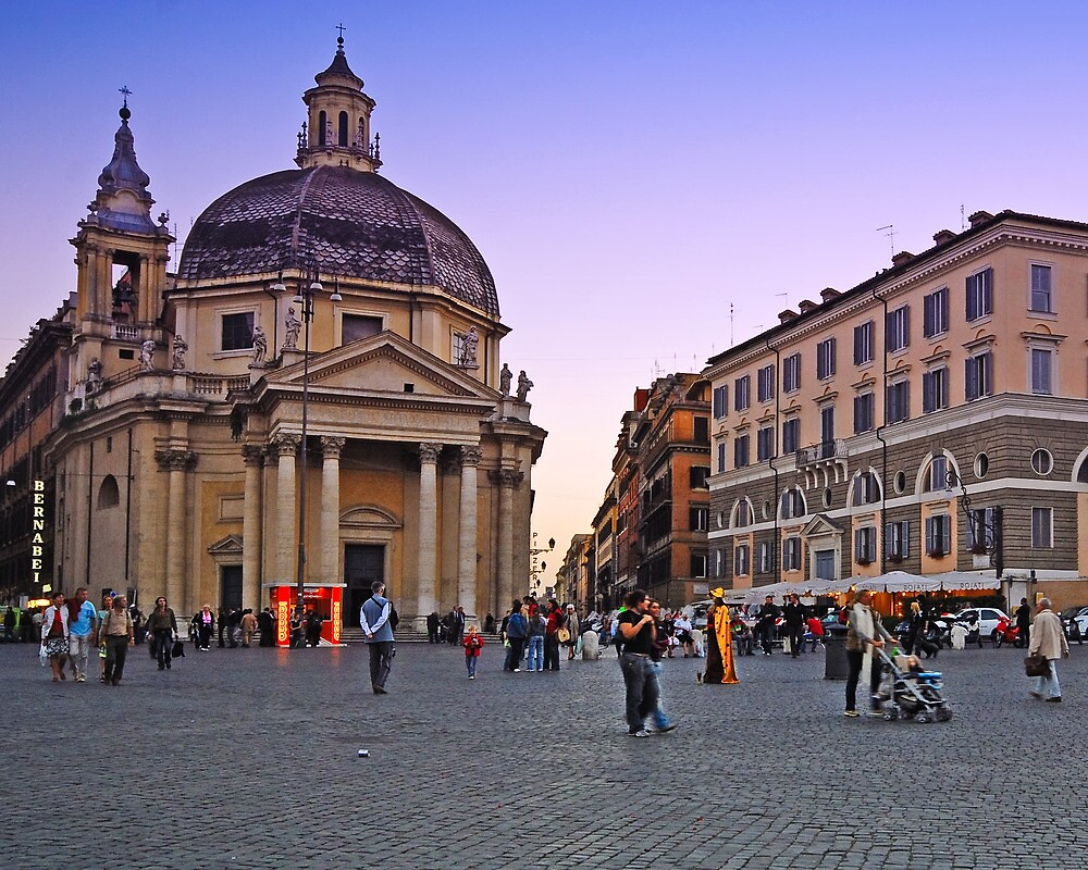 Plaza, Rome Italy by Cathy P. Austin