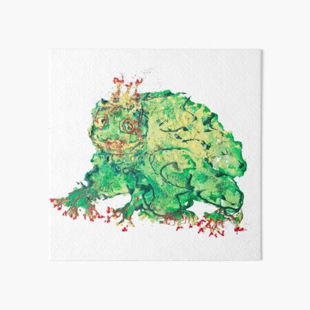 green frog Art Board Print