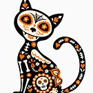 Day of the Dead Cat and Pattern by Bex Morley
