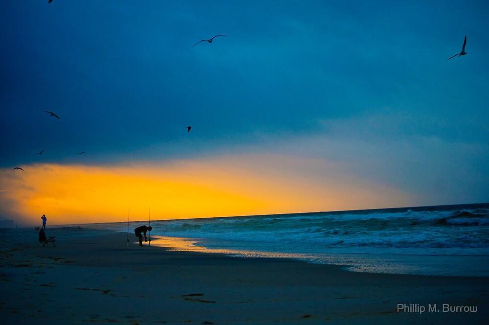 Early Morning Fishing by Phillip M. Burrow