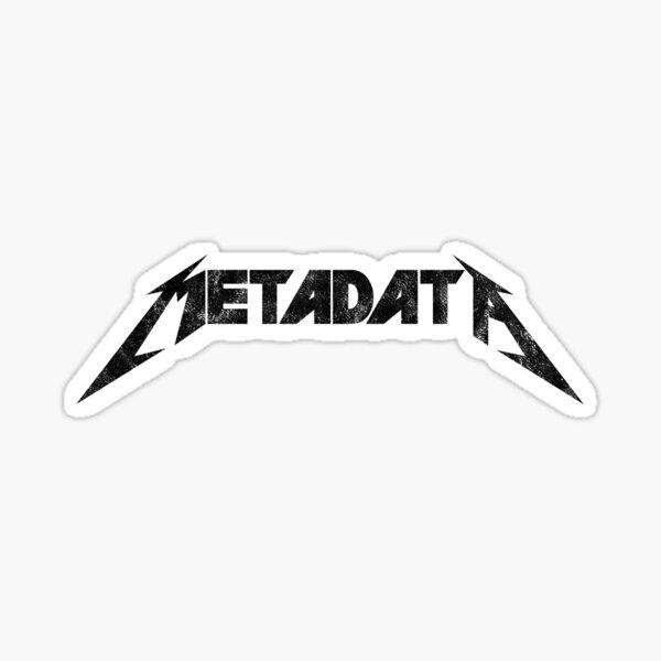 Metadata - Distressed Black Edition Sticker