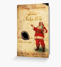 Fallout Merry Christmas from Nuka Cola Fan Art Greeting Card