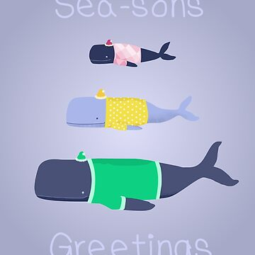 Whales seasons greetings by Byrnsey