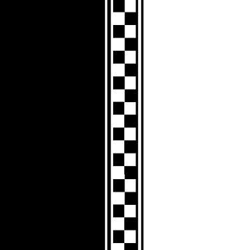 Stilvolle Schwarz-Weiß-Ska inspiriert v2 von Auslandesign