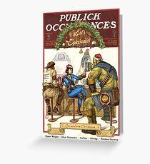 Fallout Public Vorkommen Weihnachten Edition Fan Art Grußkarte