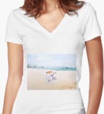 Sweet Scent of Freedom Women's Fitted V-Neck T-Shirt
