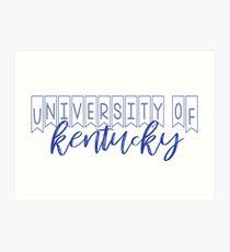 Universität von Kentucky Kunstdruck