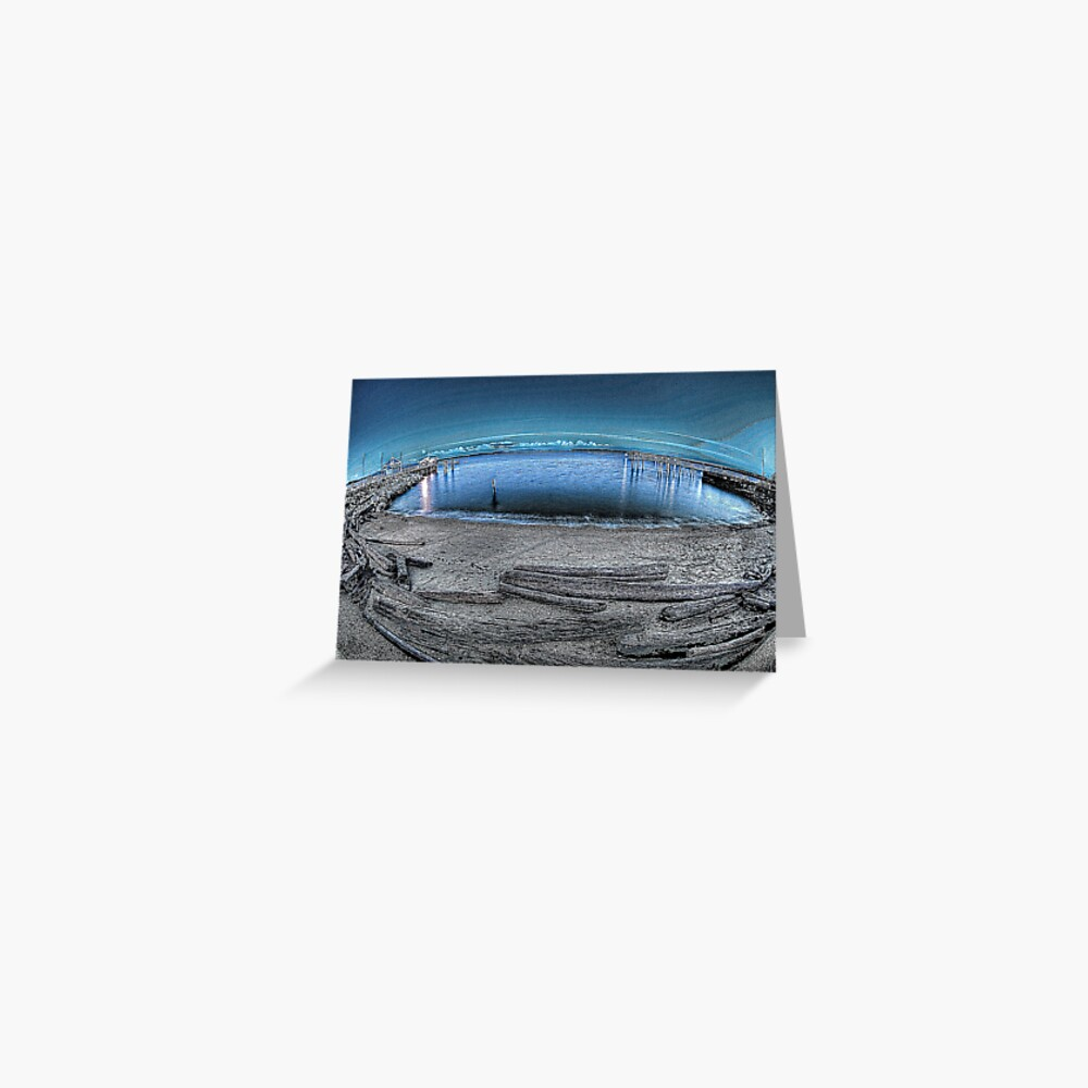 Chilly night on Sidney's Beach Greeting Card