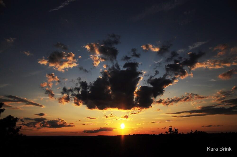 sunset on a hill by Kara Brink