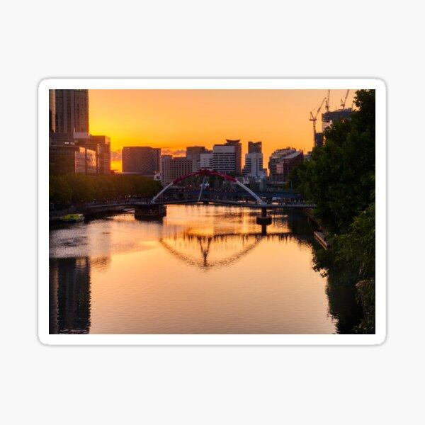 Melbourne River Sunset Sticker