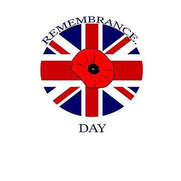 Remembrance Day Poppy British UK by AbdelaaliKamoun
