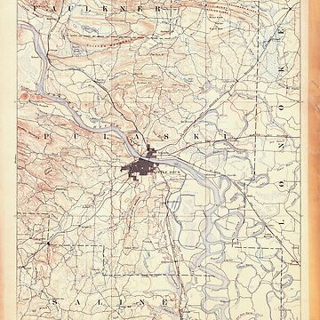 USGS TOPO Map Arkansas AR Little Rock 260507 1893 125000 by wetdryvac