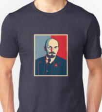 LENIN RED BLUE PORTRET  Unisex T-Shirt