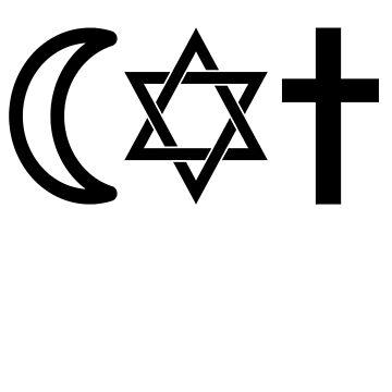 Coexist religion god equality islam christianity judaism by zejose