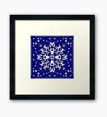 CA Fantasy Deep Blue-White series #6 Framed Print