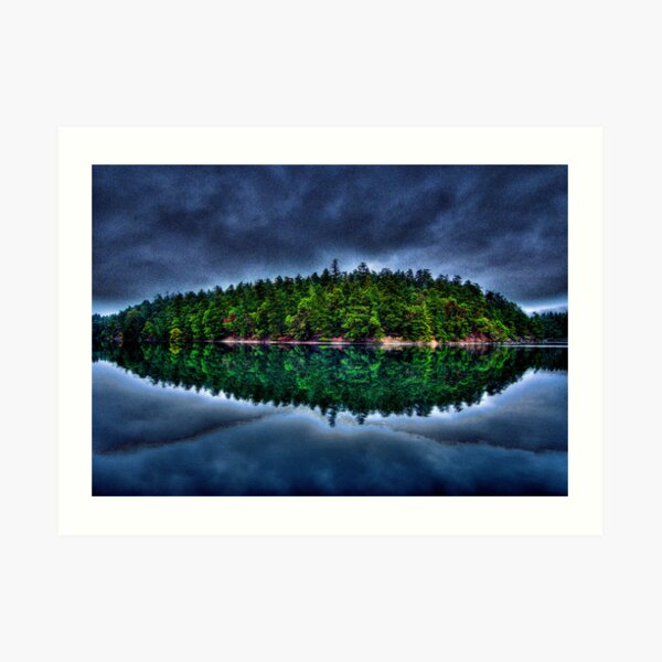 Curlew Island in the Weather Art Print