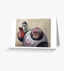 Space Buffoon Greeting Card
