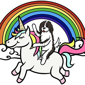 Funny Havanese Riding Unicorn by ilovepaws