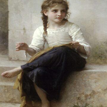 The dressmaker(La couturiere)-William Adolphe Bouguereau by LexBauer