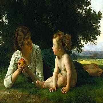 Temptation-William Adolphe Bouguereau by LexBauer