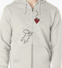fishing for your heart Zipped Hoodie