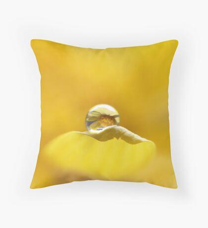 A little drop of sunshine Throw Pillow