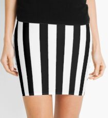 Black White Stripe Bedspread Mini Skirt