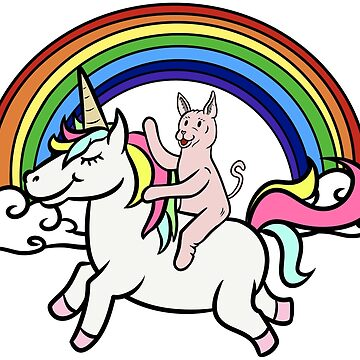 Funny Sphynx Cat Riding Unicorn by ilovepaws