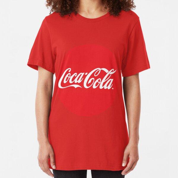 Coca Cola red circle logo Slim Fit T-Shirt
