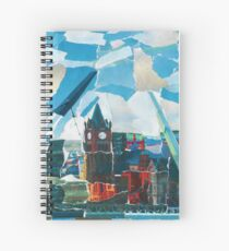 Derry Guildhal Peace Bridge With River Spiral Notebook